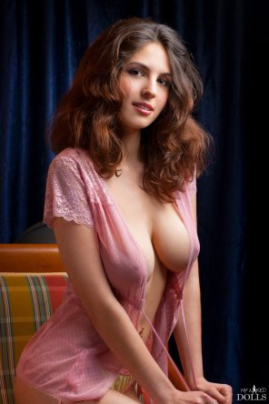 amateur photo In a pink nightie