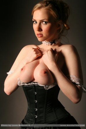 amateur photo Tight corset