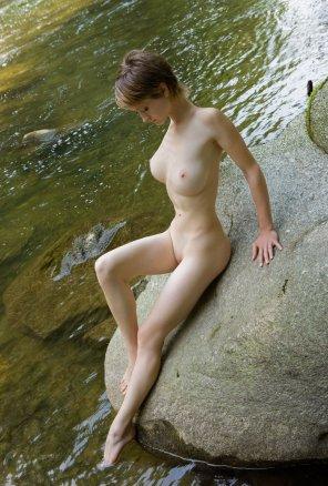 amateur photo Silke - Testing the water