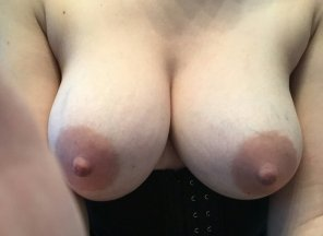 amateur photo More wife titties