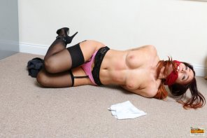 amateur photo Just how an office secretary should be..