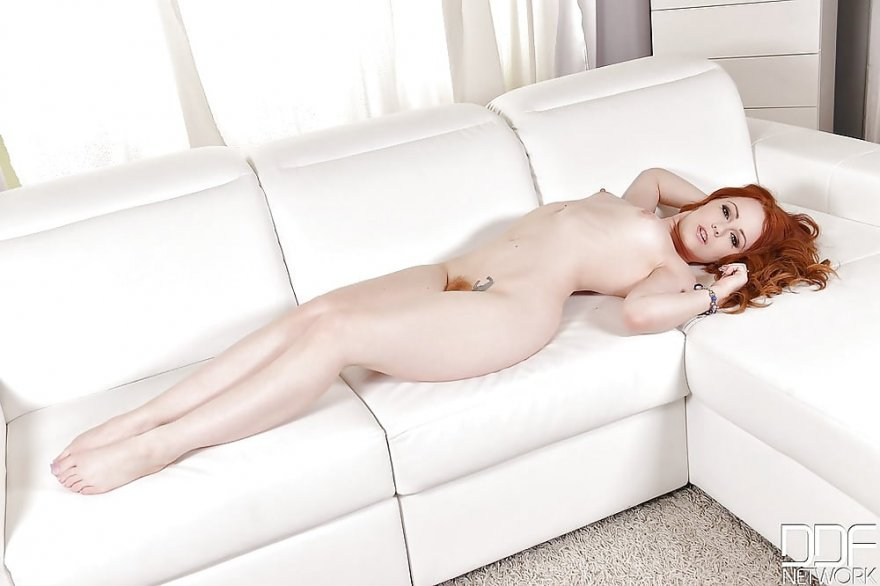 Ella Hughes on the couch Porn Photo