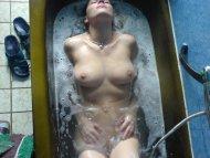 Enjoying a soak.