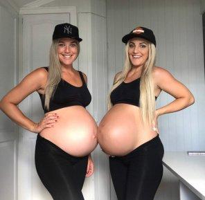 amateur photo Two blonde bumps