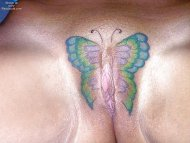 amateur have a butterfly tat