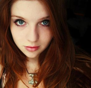 amateur photo Intense beautiful redhead