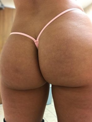 amateur photo [F] Thong of the day!!! Today I have on a light pink micro thong!! Enjoy