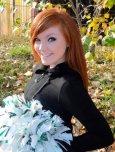 amateur photo Red Headed Cheerleader