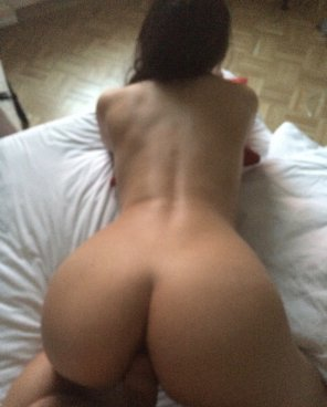 amateur photo taking her from behind