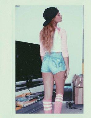 amateur photo Shorts and a cap