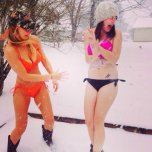 amateur photo Bikinis in the snow