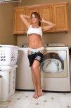 amateur photo Nikki Sims on laundry day