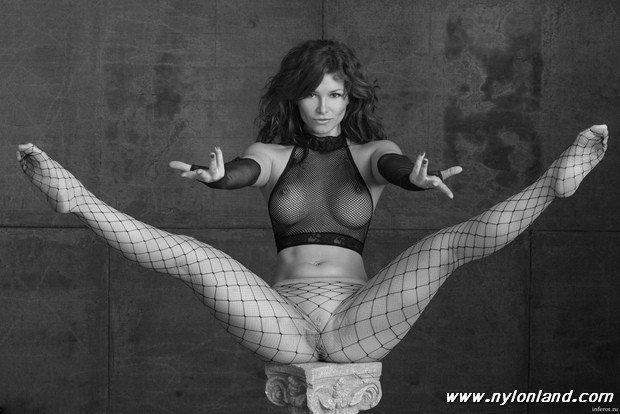 Nice split and mesh top Porn Photo
