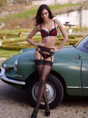 amateur photo Stockings and Classic Cars