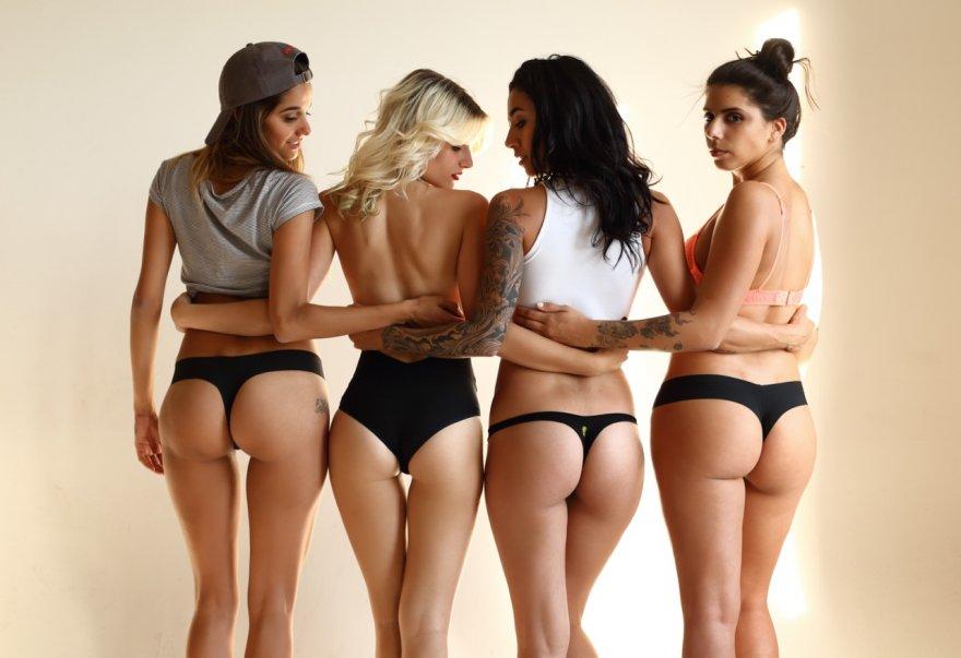 Sam Fuente, Danielle Castano, Alee Rose, and Alexis Barbera Porn Photo