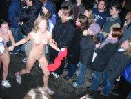 College girls streaking