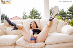 amateur photo Hot solo play with the lovely Brooke Azure