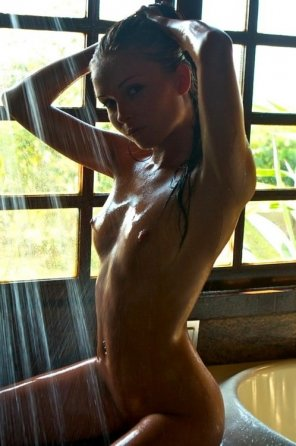 amateur photo She is tacking care of her gorgeous young body.