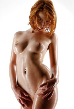 amateur photo oiled redhead
