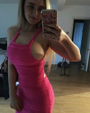 amateur photo Bursting Out Of A Tight Dress