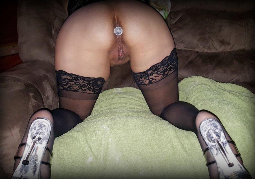 My slutty princess and her princess plug. Porn Photo