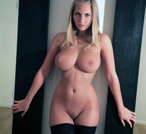 amateur photo Blonde in stockings