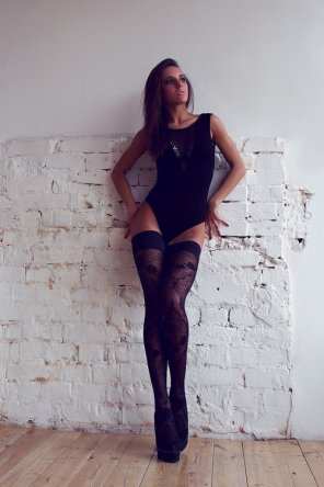 amateur photo Love the leotard