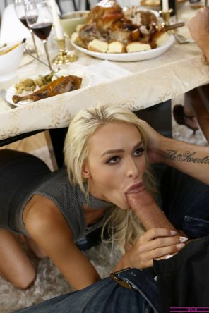 amateur photo She loves the dark meat!