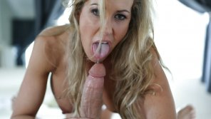 amateur photo Brandi Love drools on cock