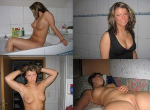 amateur photo Girl with nice tits in the bathroom
