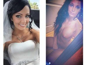 amateur photo Here cums the bride