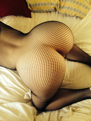 amateur photo Fishnets are always nice