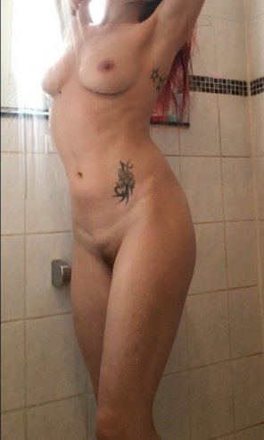 amateur photo After workout shower [f]