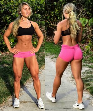 amateur photo Carriejune Bowlby out for a run
