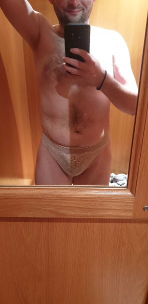 amateur photo So[M]ething so naughty about getting changed into these in public!