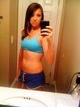 amateur photo Sports bra selfie
