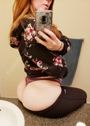 amateur photo Yoga pants are per[f]ect for a *highly* relaxing night in