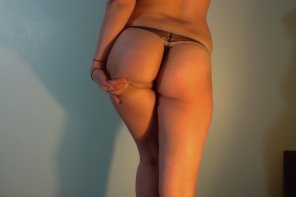 amateur photo Lacy black thong