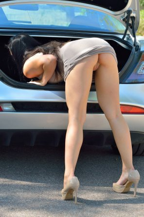 amateur photo in the trunk