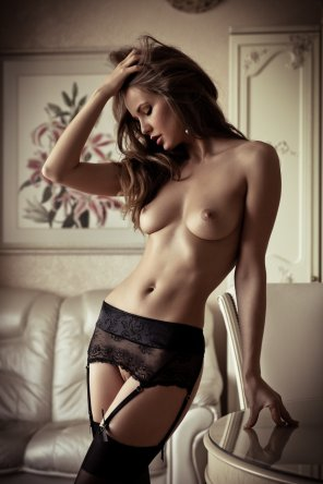 amateur photo Black Garters and Stockings