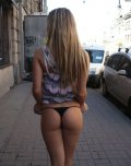 amateur photo Public Thong