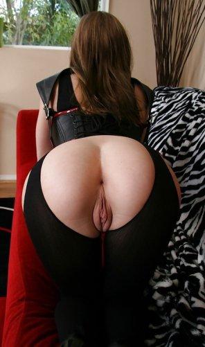 amateur photo Split tights
