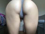 Bent over the way Daddy likes.