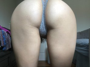 amateur photo Bent over the way Daddy likes.