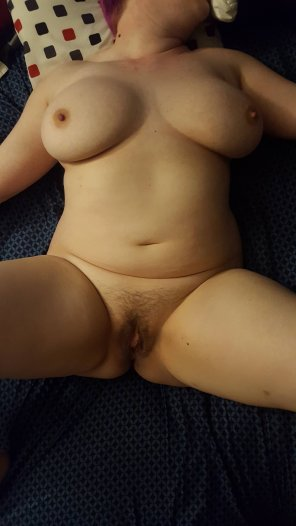amateur photo Tied down and wanted more people to play with