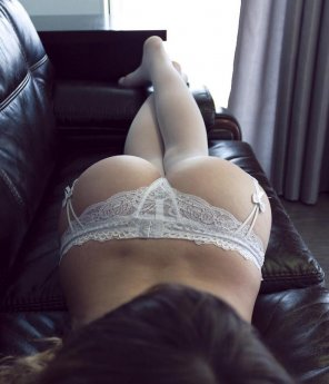 amateur photo Soft couch and soft ass...