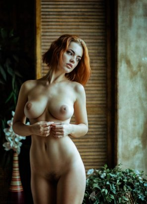 amateur photo Young redhead