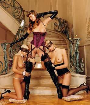 amateur photo A master and her slaves.