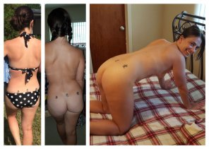 amateur photo Average milf triple tramp stamp.