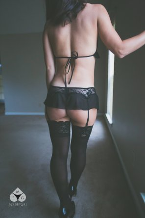 amateur photo Stockings and Underbun